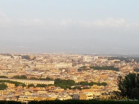 View of Rome from Villa Miani, an event venue on Monte Mario