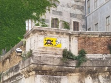 "A work by ""Invader "" in Rome"