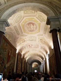 A ceiling in the Vatican museum