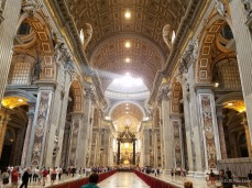 A beam of light inside St. Peter's Basilica