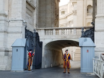 Pontifical Swiss Guards at the Vatican