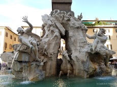 Fontana dei Quattro Fiumi (Fountain of the Four Rivers) on Piazza Navona, Rome