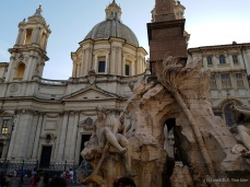 Fontana dei Quattro Fiumi (Fountain of the Four Rivers) on Piazza Navona, Rome