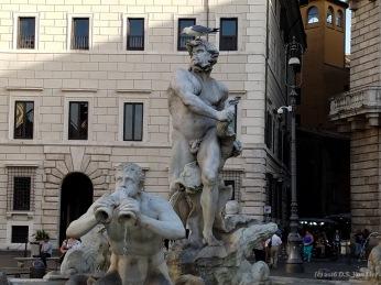 Fontana del Moro (Moor Fountain) on Piazza Navona