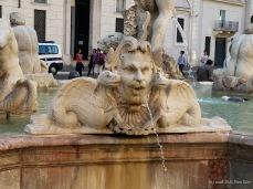 Fontana del Moro (Moor Fountain) on Piazza Navona, Rome