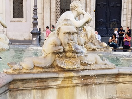 Fontana del Moro (Moor Fountain) on Piazza Navona, Rome