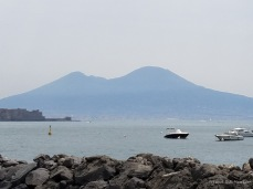 A view of Mt. Vesuvius from from Naples.