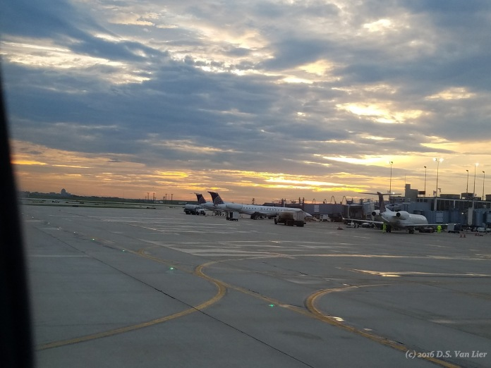 Dusk at the Leonardo da Vinci International Airport (Rome Fiumicino Airport)