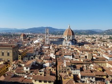 View of Florence from the Palazzo Vecchio Tower with the Duomo at center.