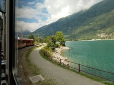 A view from the Bernina Express