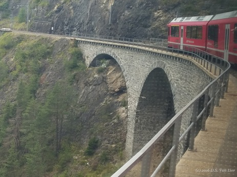 A Viaduct on the Bernina line betwen Tirano, Italy and Chur, Switzerland