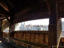 This is the oldest covered wooden bridge in Europe. Originally built in 1333, it almost burned down in 1993 and most of its interior paintings were destroyed.