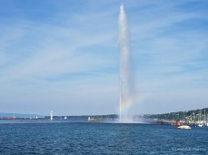 Jet d'Eau water fountain in Geneva