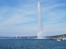 Jet d'Eau water fountain in Geneva