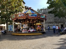 A merry-go-round in Geneva's Old Town