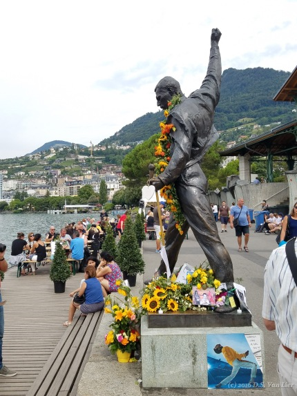 Statue of Freddie Mercury in Montreux.