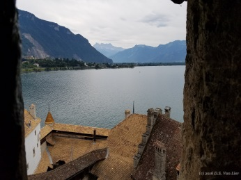 View from Château de Chillon on Lake Geneva