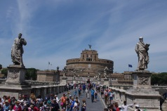 The Mausoleum of Hadrian, also known as Castel Sant'Angelo