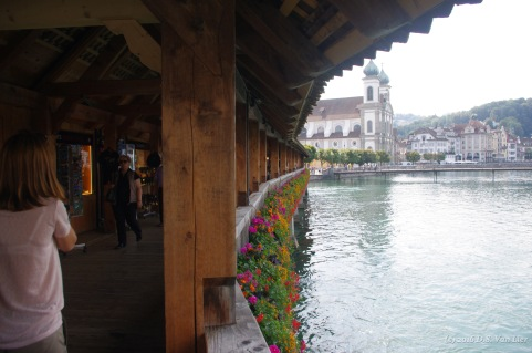 Kapellbrücke (chapel bridge) in Lucerne.