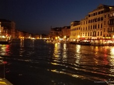 Venice Grand Canal at night
