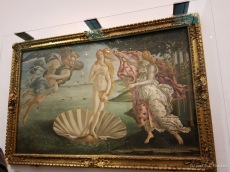 The Birth of Venus by Botticelli in the Uffizi