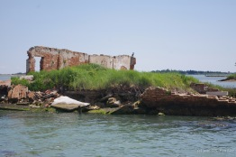 Ruins in the Venetian lagoon