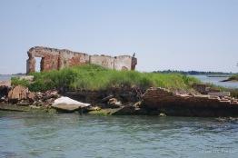 Ruins in the Venetian lagoon
