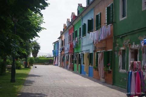 Laundry drying in Burano