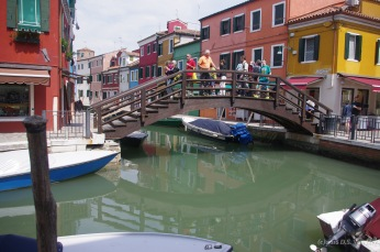 A bridge across a canal on Burano