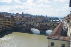 Ponte Vecchio seen from the Uffizi gallery (Florence)