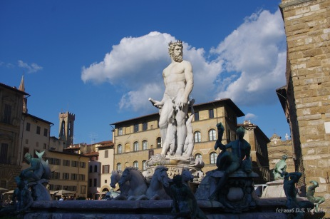 Fountain of Neptune at the Piazza della Signoria, Florence