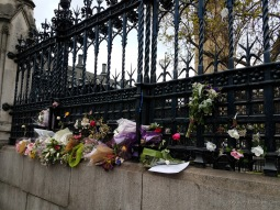 A memorial to the victims of the April terror attack that made it to Palace of Westminster