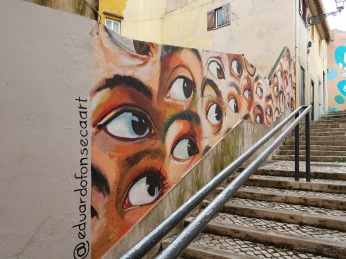 This work was part of the International Festival of Urban Art and was done by a fine artist
