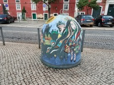 Even the waste cans have been painted
