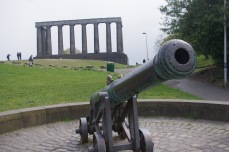 National Monument of Scotland and the Portuguese cannon on Calton Hill