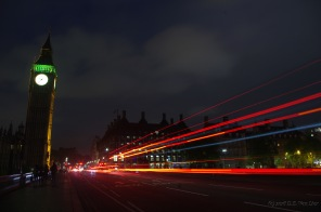 Westminster Bridge motion blur