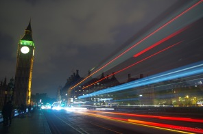 Motion blur on Westminster bridge