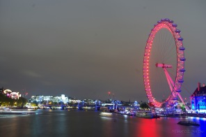 The London Eye from Westminster Bridge