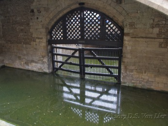 The Traitors' Gate was originally built for King Edward I to have easy entrance when it was used by the royal family, but it was later the way prisoners were brought in when the Tower became a prison