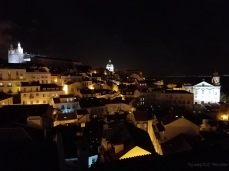 Night view from Miradouro das Portas do Sol (Viewpoint of the Gates to the Sun)
