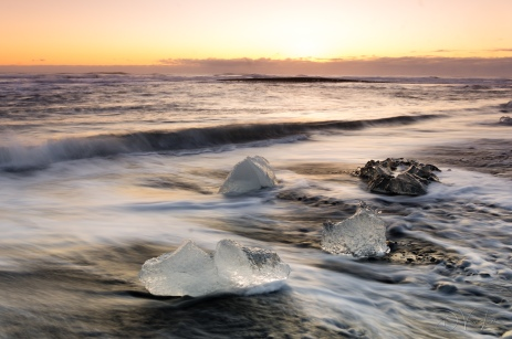 Ice on Diamond Beach