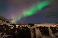 Aurora over Kirkjufellfoss